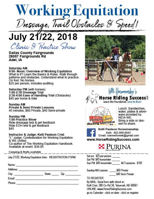 Intro to Working Equitation - Iowa