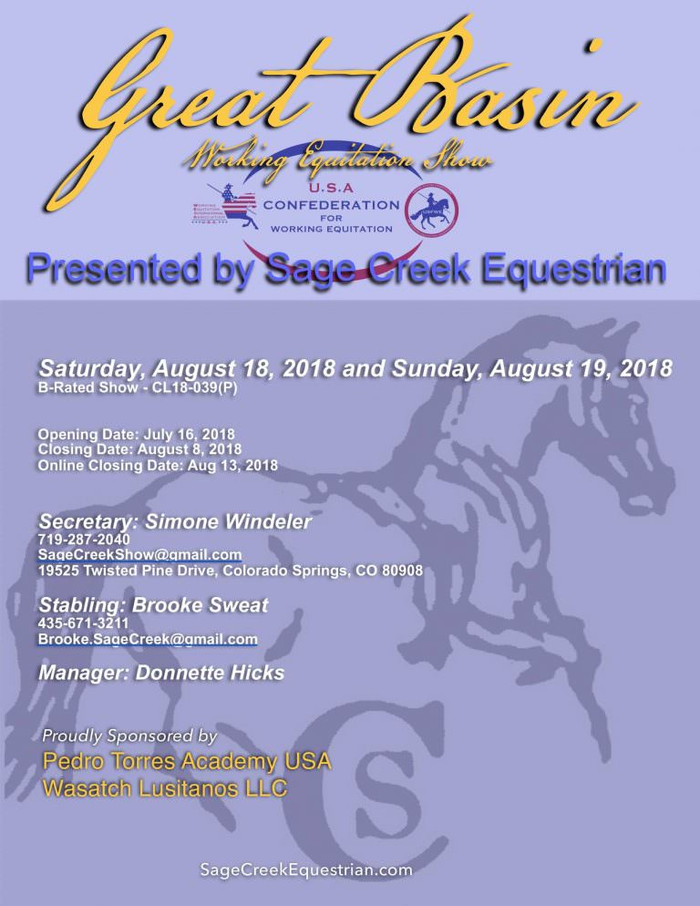 Great Basin Working Equitation Show